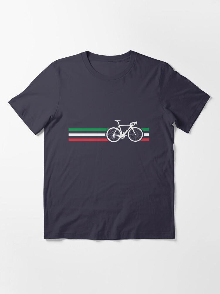 Alternate view of Bike Stripes Italian National Road Race v2 Essential T-Shirt