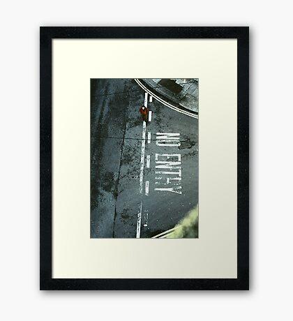 I Walk The Line Framed Print
