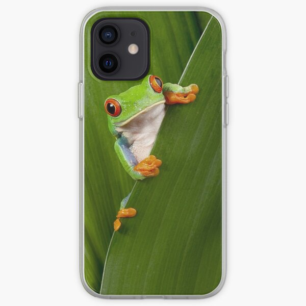 Red eyed tree frog iPhone Soft Case