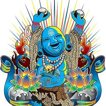 Happy Kustom Kulture Buddha by satansbrand