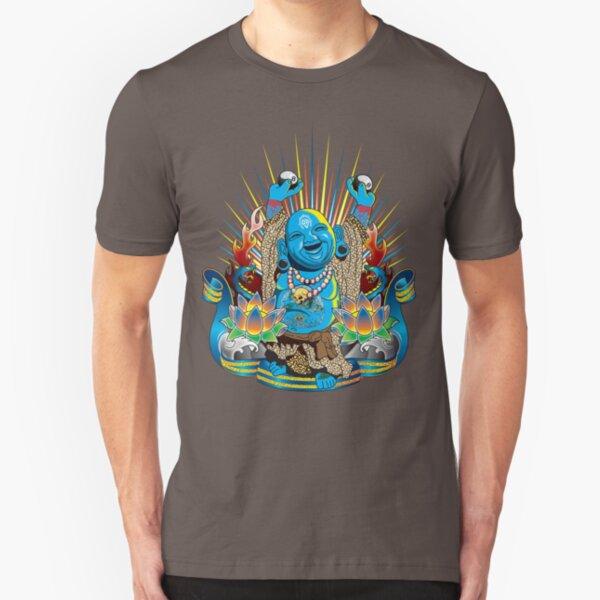 Happy Kustom Kulture Buddha Slim Fit T-Shirt