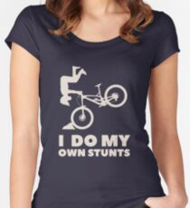 I do my own stunts! MTB Shirt Women's Fitted Scoop T-Shirt