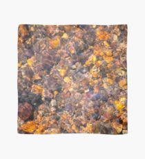 Clear Water Flows Over Golden Brown Pebbles Stream Abstract Scarf