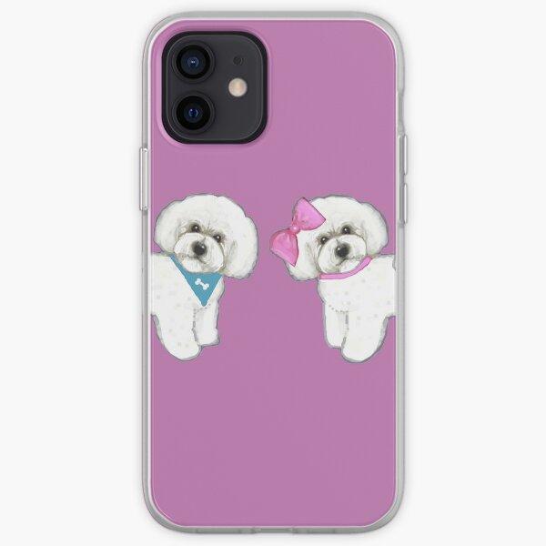 Bichon Pair on purple iPhone Soft Case