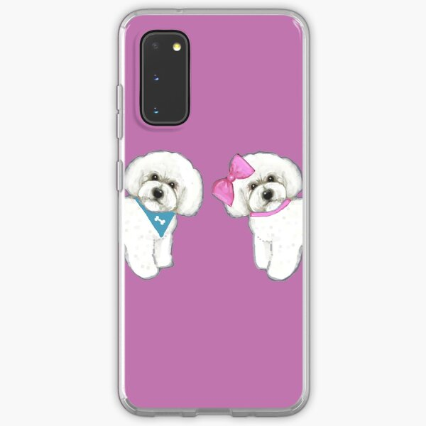 Bichon Pair on purple Samsung Galaxy Soft Case