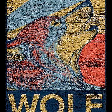 Wolf howling by GeschenkIdee