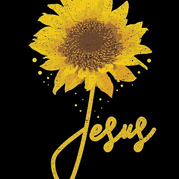 Jesus Sunflower Christian Religion Bible Love God by kieranight