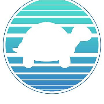 Water lake sea turtle by 4tomic