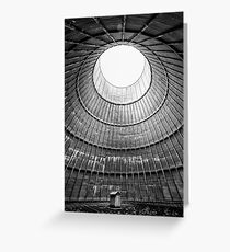 the house inside the cooling tower - abandoned factory Greeting Card
