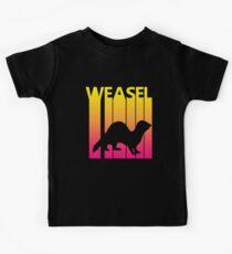 Retro 1980er Wiesel Kinder T-Shirt