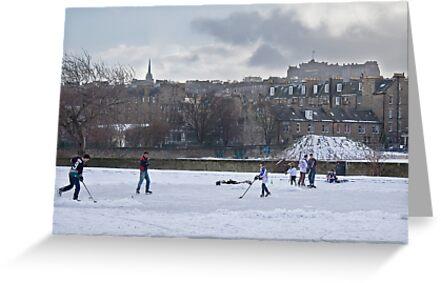 Ice Hockey and Edinburgh Castle by Chris Clark