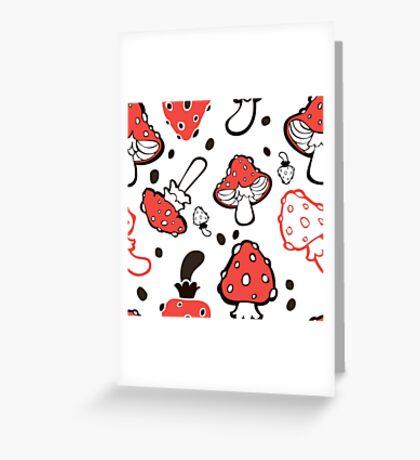 - Mushroom pattern - Greeting Card