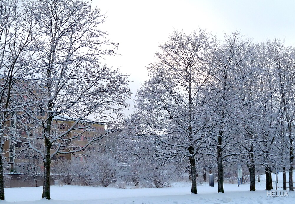 Wintery Suburbia by HELUA
