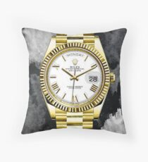 Rolex Luxury Watch Inspiration Throw Pillow