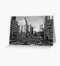 Intersection B&W Greeting Card