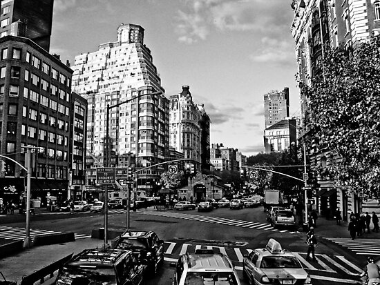 Intersection B&W by daniellesalmon