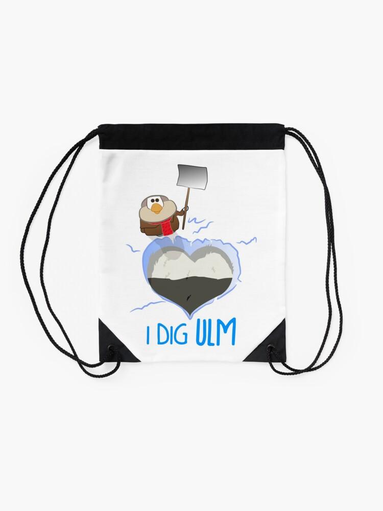 Alternate view of I Dig Ulm Drawstring Bag