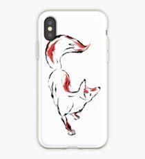 Japanese Style Inked Kitsune. iPhone Case
