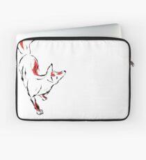 Japanese Style Inked Kitsune. Laptop Sleeve