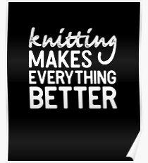 Knitting Yarn Stitches Shirt Gift Poster