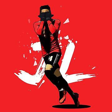 Jesse Lingard 'J-Lingz' inspired Manchester United Illustration Design by footballicon67