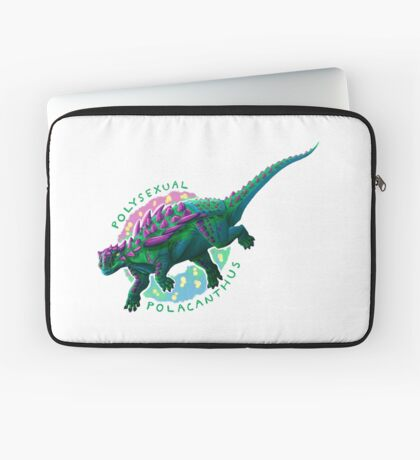 Polysexual Polacanthus (with text)  Laptop Sleeve