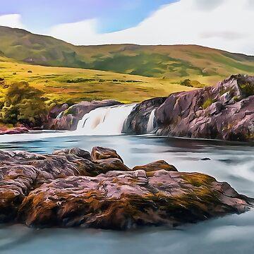 Ashleigh Falls, Ireland. (Painting.) by cmphotographs