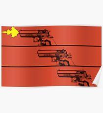 Cowboy Bebop Pistole Grafik Poster