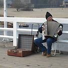 Busker on Sopot Pier - E is for Entertainer by ellismorleyphto
