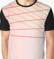 design ethnic blocks : Beige Graphic T-Shirt