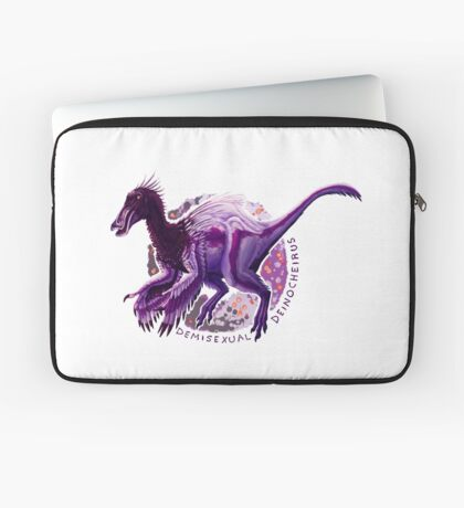 Demisexual Deinocheirus (with text)  Laptop Sleeve