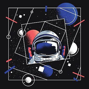 Astronaut Geometric Selfie by Matucho
