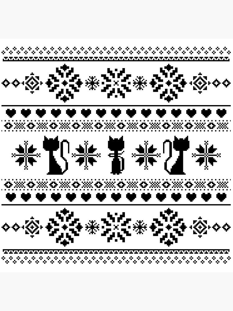Katze stricken Muster schwarz von DeliriumLina
