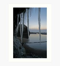 Icy Donegal Art Print