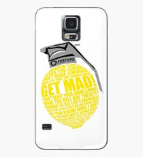 Portal 2 Cave Johnson Combustible lemon quote Case/Skin for Samsung Galaxy