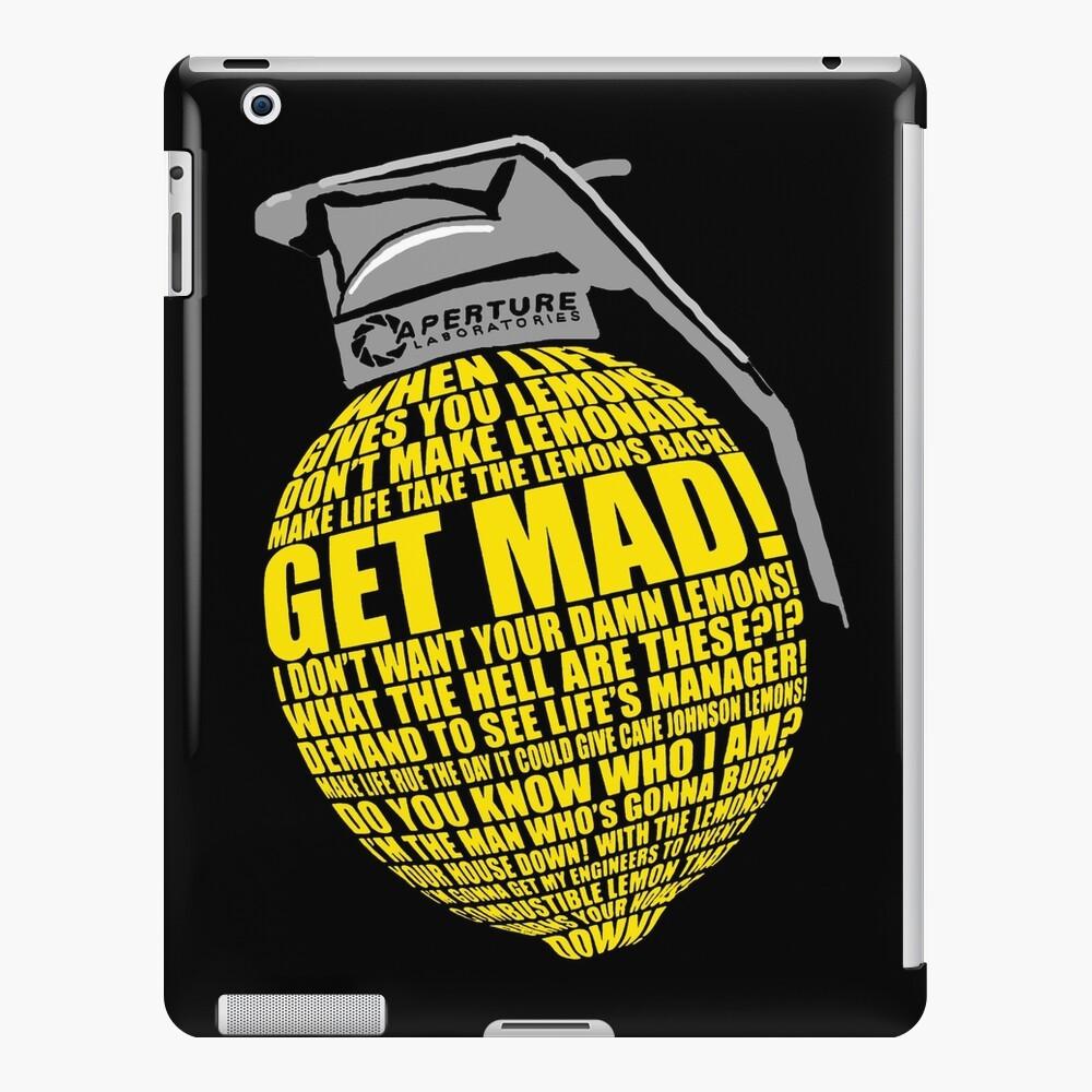 Portal 2 Cave Johnson Combustible lemon quote iPad Case & Skin