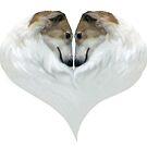 Borzoi Heart by Happy Dog Swag