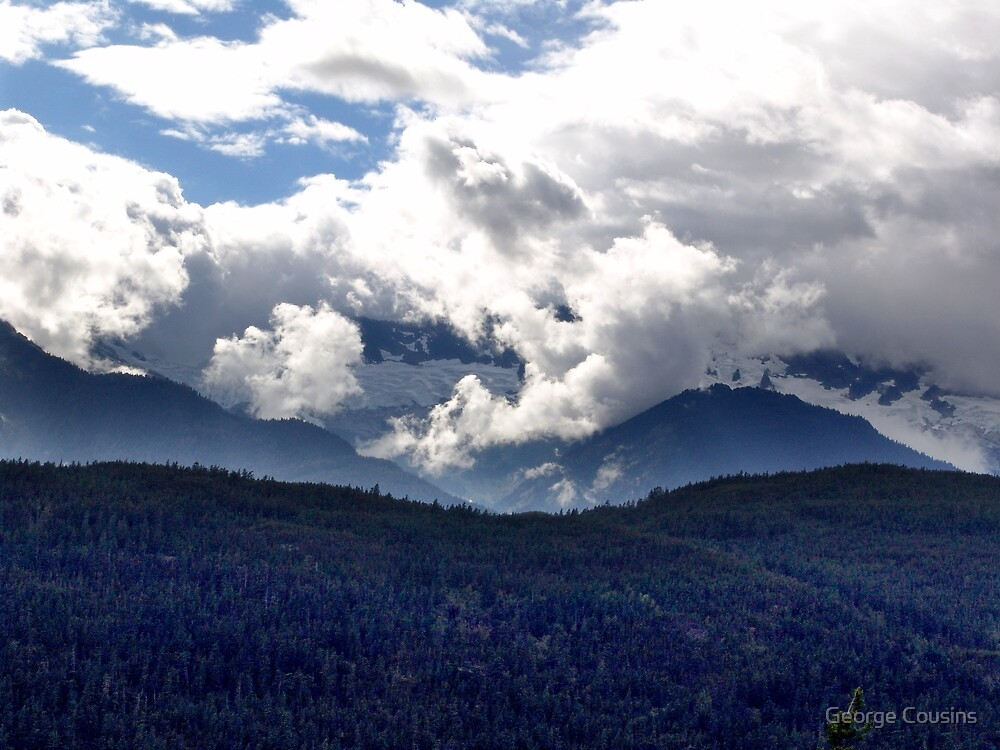 Coast Mountains and Clouds by George Cousins