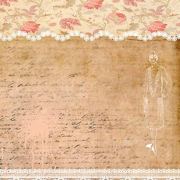 Rustic, collage,parchment,lace,floral fabric, typography by love999