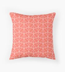 Geometric Pattern 001 - THE LIVING CORAL PANTONE COLOR OF THE YEAR 2019 Throw Pillow