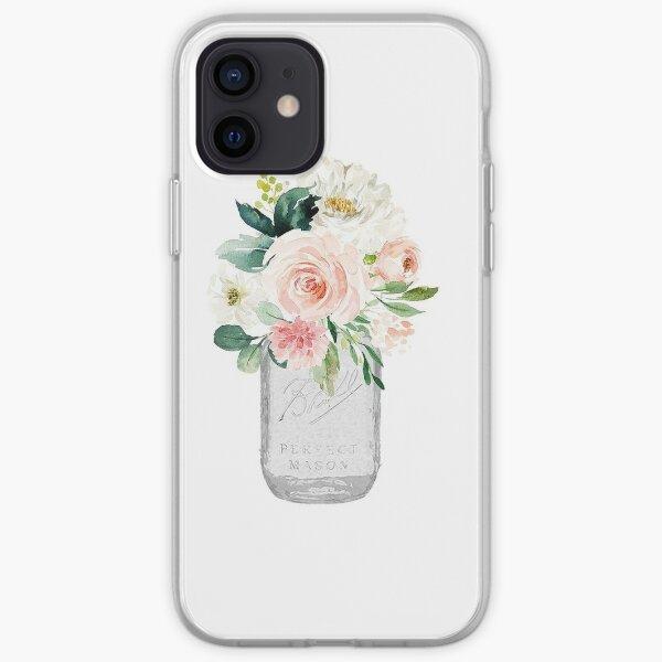 Floral Mason Jar iPhone Soft Case