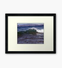 white cap Framed Print