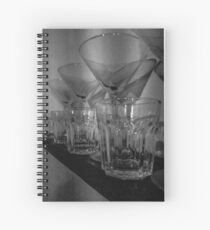 Glasses in the bar monochrome  Spiral Notebook