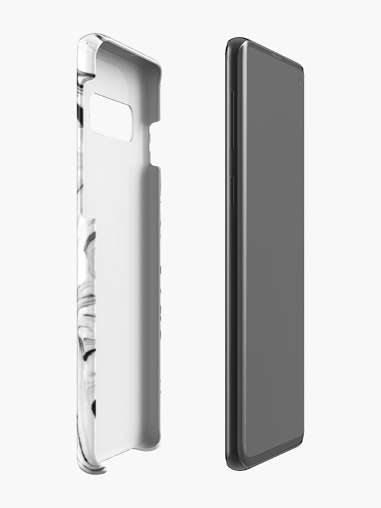 Alternate view of Black and White Marble Case & Skin for Samsung Galaxy