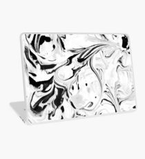 Black and White Marble Laptop Skin