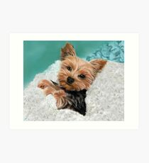 Chewie the Adorable Yorkie Art Print