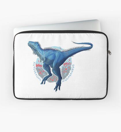 Autosexual Aucasaurus (with text) Laptop Sleeve