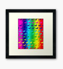 Psychedelic Unicorn Pattern Framed Print