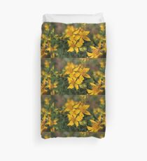Wild Canada roadside summer yellow flowers Duvet Cover
