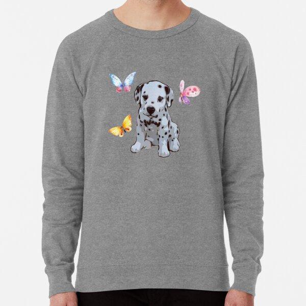 Dalmatian with Butterflies Lightweight Sweatshirt